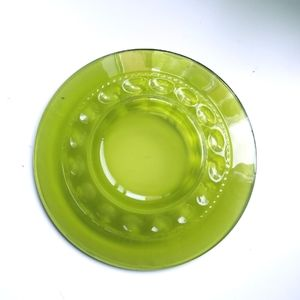 Vintage Indiana Glass Kings Crown Green Plate